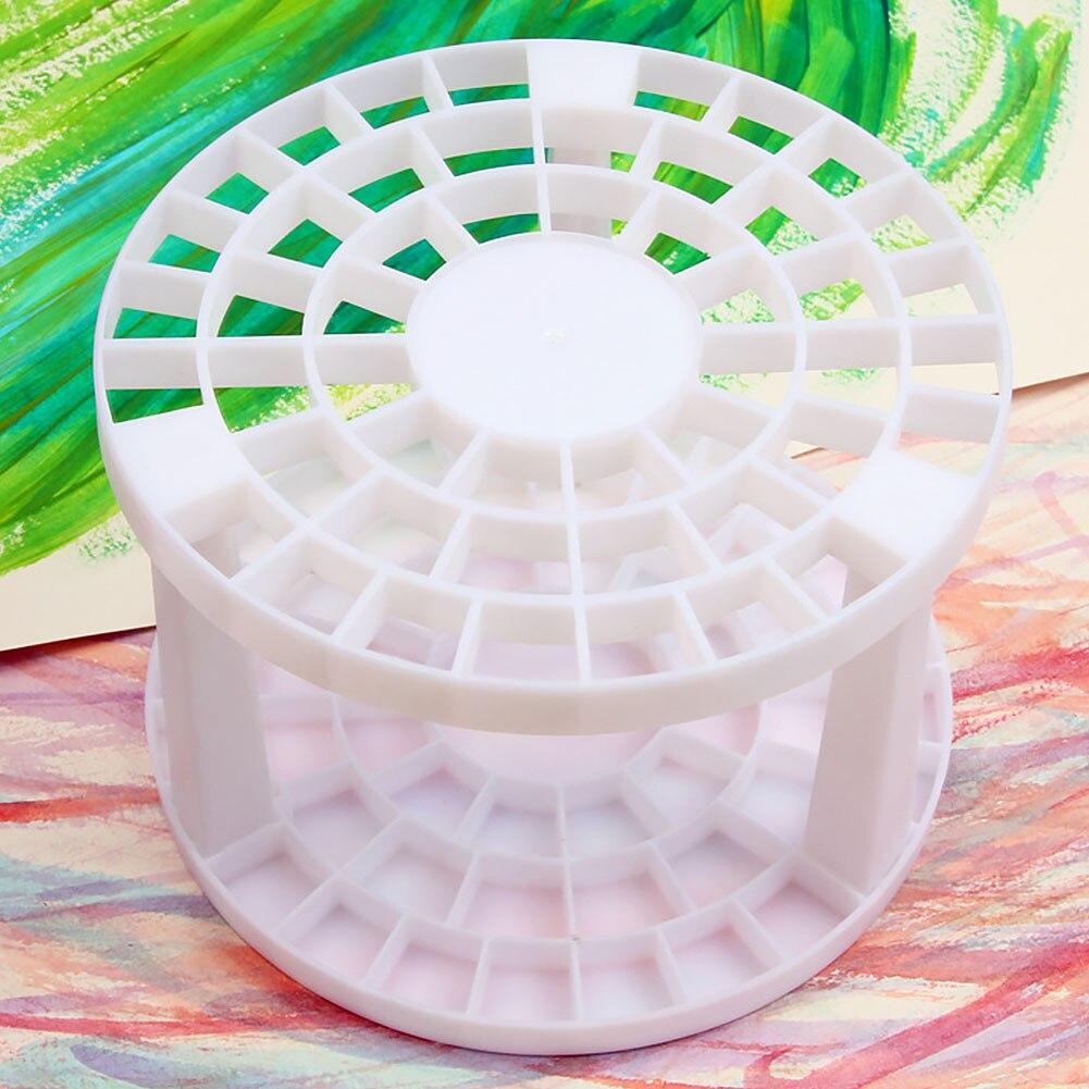 49 Holes Pen Holder Desktop Makeup Storage Dismountable Plastic Round Brush Organizer Eco-friendly Space-saving Multifunctional