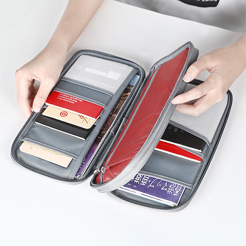 Document Organizer Bag Passport Bag Multi-function Travel Waterproof Card Bag Wallet Ticket Holder Accessories Protective Cover