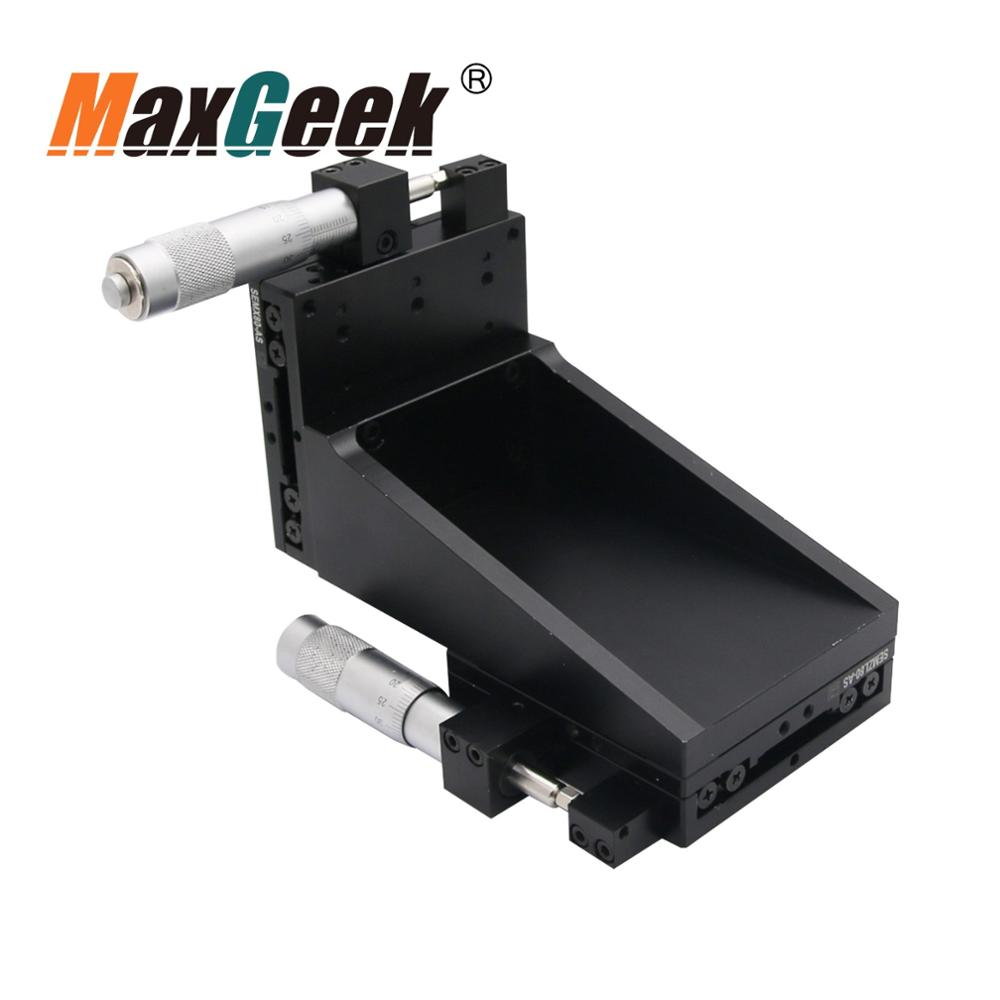 XYZ 3 Axis Manual Linear Stage Fine Tuning CNC Sliding Table Crossed Roller 80*80mm 6KG SEMXYZL80 AS