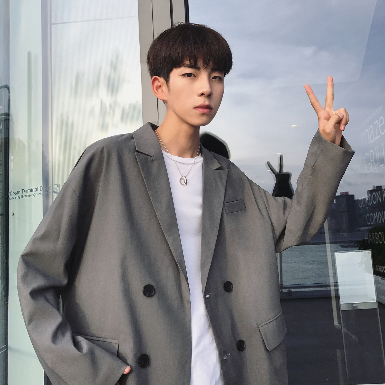 2019 New Fashion Casual Mens Suits Blazers Long Sleeve Korean Style Men Suit Jacket  Blazer Homme