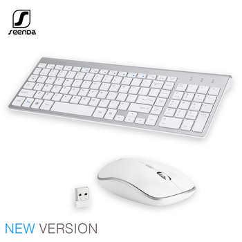 SeenDa 2,4G Drahtlose Silent Tastatur und Maus Mini Multimedia Volle-größe Tastatur Maus Combo Set Für Notebook Laptop desktop PC