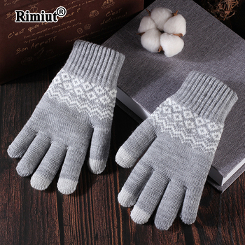 Rimiut New Arrive Casual Thick Warm Unisex Gloves Autumn Winter Skiing Touch Screen Useful Fashion Students hand