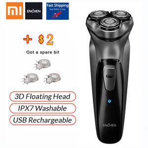 Xiaomi Face Shaver Beard-Machine USB Enchen Blackstone 3D Electric Rechargeable Men Original