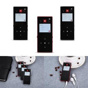 Image 5 - Reproductor MP3 Bluetooth, botón táctil de Metal, compatible con tarjeta SD, reproductor de música HIFI sin pérdidas MP3 con Radio FM, grabadora de voz, E book