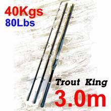 TENYUN – canne à pêche en fibre de carbone 150-300 #, appât 600-1200g, 40KG, 80lb, 3.0m, 12 anneaux Fesses 3.8, 20.8mm, 508g