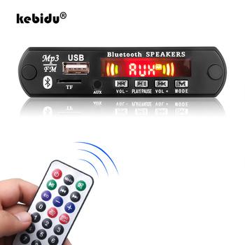 Kebidu odtwarzacz MP3 płyta dekodera 5V 12V Bluetooth 5 0 6W wzmacniacz samochodowy moduł radiowy FM wsparcie APP TF USB AUX rejestratory tanie i dobre opinie MP3 WAV 107*25*30mm Zasilanie zewnętrzne Radio FM 20 godzin Brak MP3 Decoder Board Samochód MP3 Dotykowy Tone Z tworzywa sztucznego