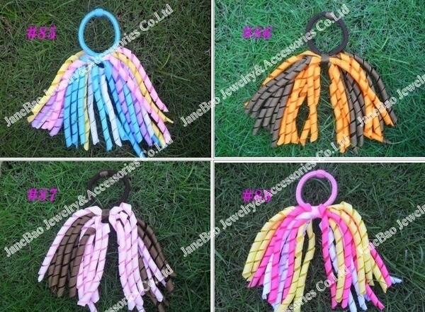 100 шт модные коркер конский хвост держатели стример бант волосы популярный банты для волос