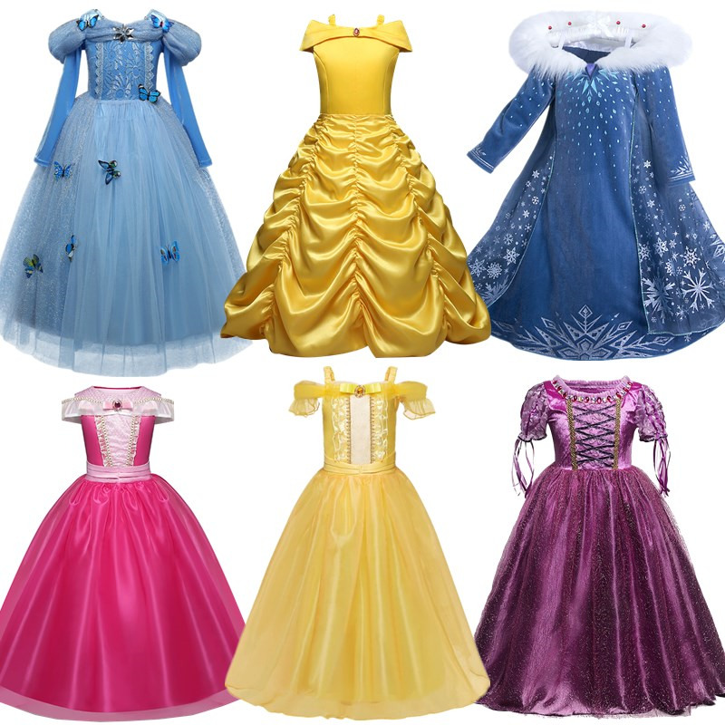 Girls Princess Dress Fancy Dress for Children Kids Halloween Costume Clothing Dress Up Girls Vestidos 1