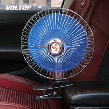 12V/24V 360 Degre 8 inch Adjustable Car Auto Air Cooling Dual Head Fan Low Noise Car Auto Cooler Air Fan Car Fan Accessories mute leafless air conditioning fan universal car electric fan adjustable vehicle turbofan car cooler for baby low noise