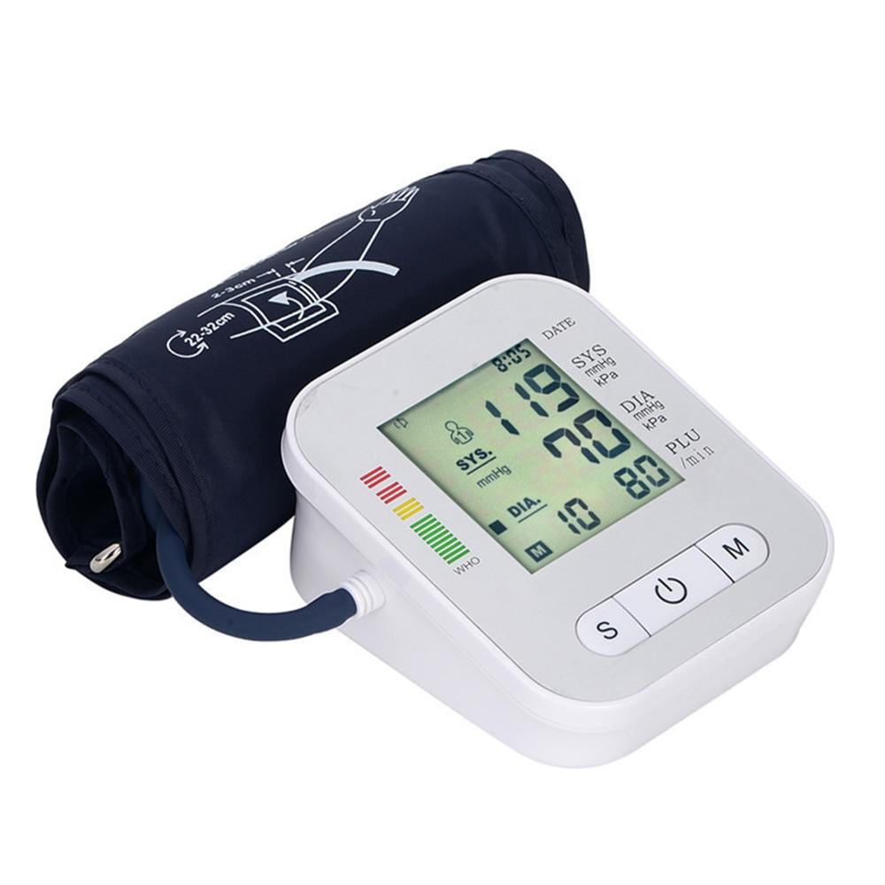 Medical Equipment Home Blood Pressure Monitor Tonometer Family Digital Blood Pressure Monitor Upper Arm LCD Screen Tonometer