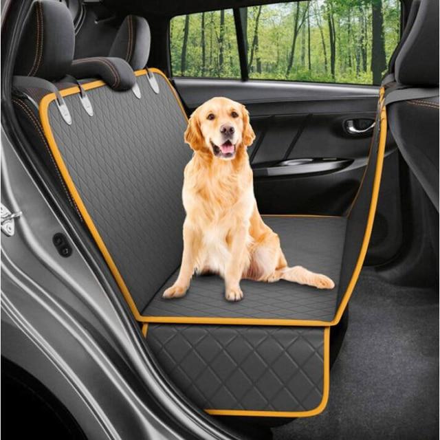 NEW Dog Car Seat Cover 100% Waterproof Pet Dog Travel Mat Mesh Dog Carrier Car Hammock Cushion Protector 1
