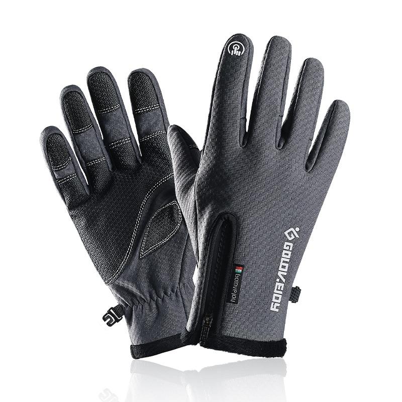 Купить зимние перчатки для катания мужские мотоциклы и бархатные сенсорных