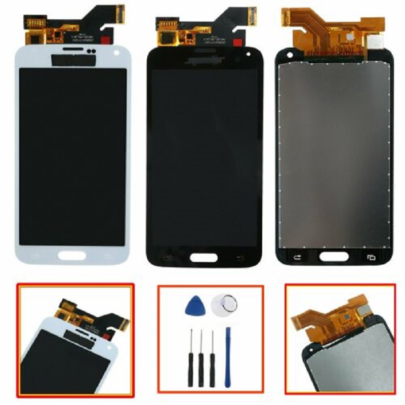 New LCD Touch Screen <font><b>SM</b></font>-G900A G900V G900P G900W8 G900i Screen Assembly Assembly for Samsung <font><b>Galaxy</b></font> <font><b>S5</b></font> image