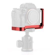 L suporte da placa câmera aperto de mão suporte da câmera para sony a7riii a7m3 a9 a7r3 com chave de liberação placa base & placa lateral