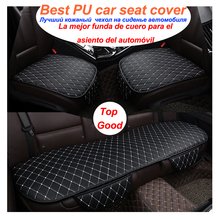 Car Seat Cover Universal PU Leather Cushion Front Rear Backseat Seat Cover Auto Chair Seat Protector Mat Pad car Accessories universal auto car seat cover auto front rear chair covers seat cushion protector car interior accessories 3 colors