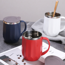 oneisall 400ML 304 Stainless Steel Thermos Mugs Office Cup With Handle Lid Insulated Tea mug Thermoses
