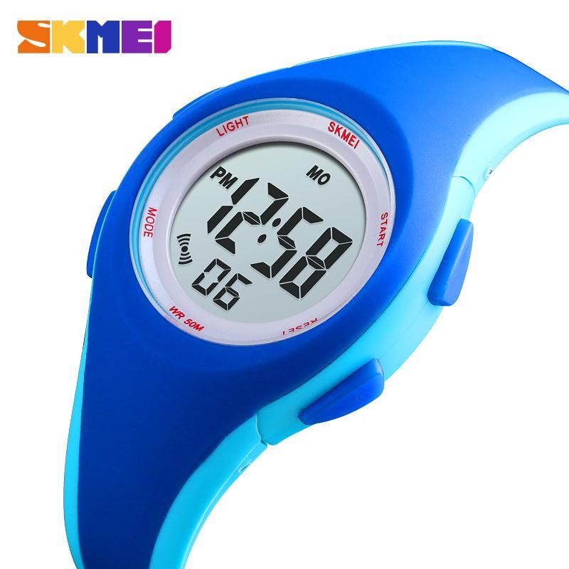 SKMEI Спорт Дети Цифровые Часы Мода Больше Цвета Часы Дети 5bar Водонепроницаемый Световой Дисплей Часы Montre Enfant 1459