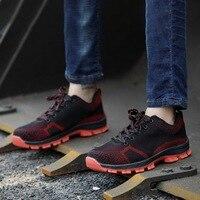 Pui/Мужская tiua Мужская Уличная обувь размера плюс с дышащей сеткой и стальным носком; промышленная Рабочая обувь с прокалыванием