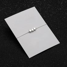 Silver Star Bracelet Red String Card Customisable Adjustable multicolor  Dainty Bracelets Bridesmaids Gift