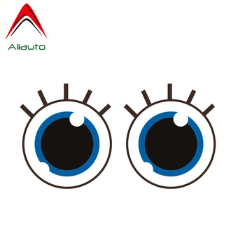 Aliauto Lovely Car Sticker Cute Eyes of Innocent Accessories Decoration Vinyl Decal for Bmw Smart Fortwo Peugeot Kia,16CM*9CM image