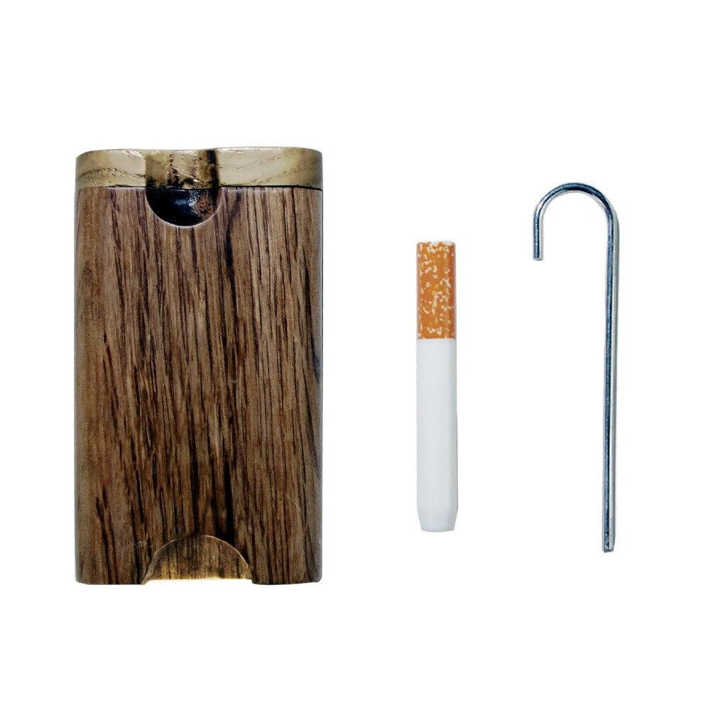 COURNOT из натурального дерева Dugout с керамической один htter летучая мышь труба 46*78 мм мини деревянная Dugout Box дымовая труба аксессуары Органайзер коробка - Цвет: Type-2