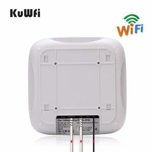 Image 4 - Point daccès sans fil KuWFi pour montage au plafond, routeur Wi Fi AP sans fil double bande avec routeur de plafond mural longue portée 48V POE