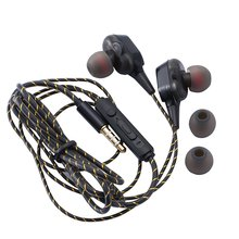 wired earphone high bass dual drive stereo in ear earphones with microphone computer earbuds for cell phone single speaker Magnetic Wired Stereo in-Ear Earphones Super Bass Dual Drive Headset Earbuds Earphone For Huawei Samsung