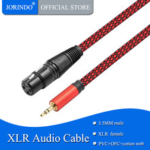 JORINDO 1M/3.2FT XLR Female Pin to 3.5MM male plug audio cable used for DV Camera / Microphone mic(China)