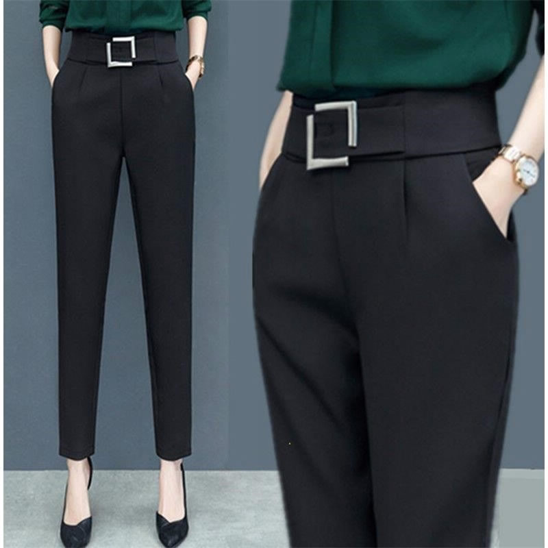 Women Pencil Pants 2020 High Waist Ladies Career Office Trousers Casual Female Slim Pants Elastic Pantalones Mujer