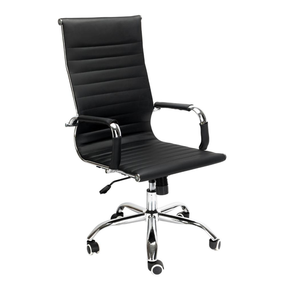 PU Leather Gaming Chair Office High Back Swivel Chair 360 Degree Rotating Black 101-108 Adjust Hight For Home Office