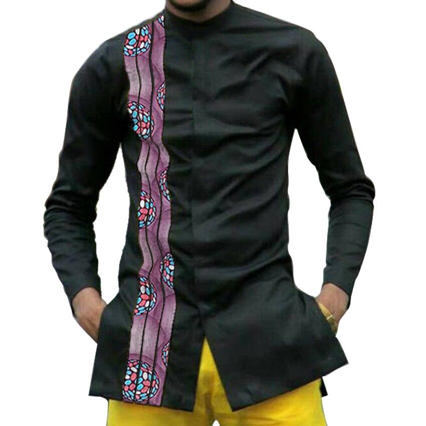Рубашка dashiki мужская с Африканским принтом модная одежда