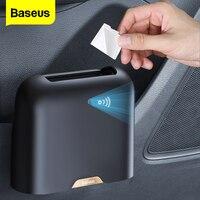 Baseus-cubo de basura para coche, suministros para vehículos, organizador de basura en el soporte, accesorios para coche, papelera
