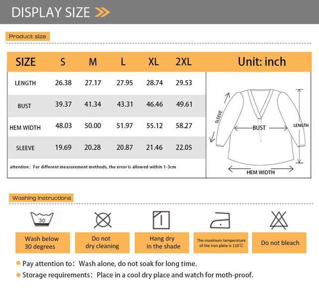 FORUDESIGNS Women Blouse Vogue Style 3D Math Formula Print Blouse V-Neck Long-sleeved Work Batwing Sleeve Loose Shirt 6