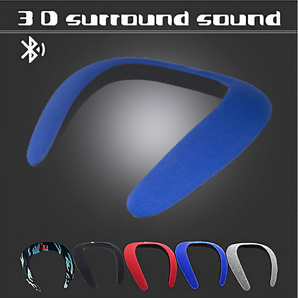 Soundgear Bluetooth Wireless Neckband Neck Speaker FM AUX SD USB Stereo US Store