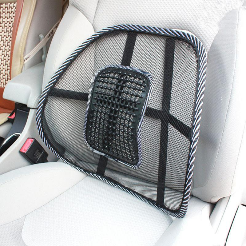4 Colors Universal Car Back Support Chair Massage Lumbar Support Waist Cushion Mesh Ventilate Cushion Pad For Car Office Home