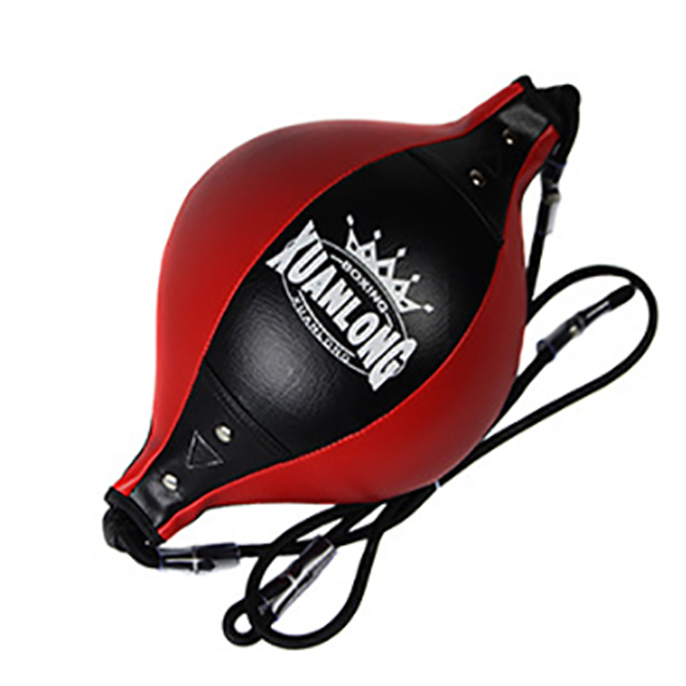 PU Leather Double End Bodybuilding Boxing Speed Ball Punching Bag Professional Adult Gym Pear With Inflator Fitness Equipment