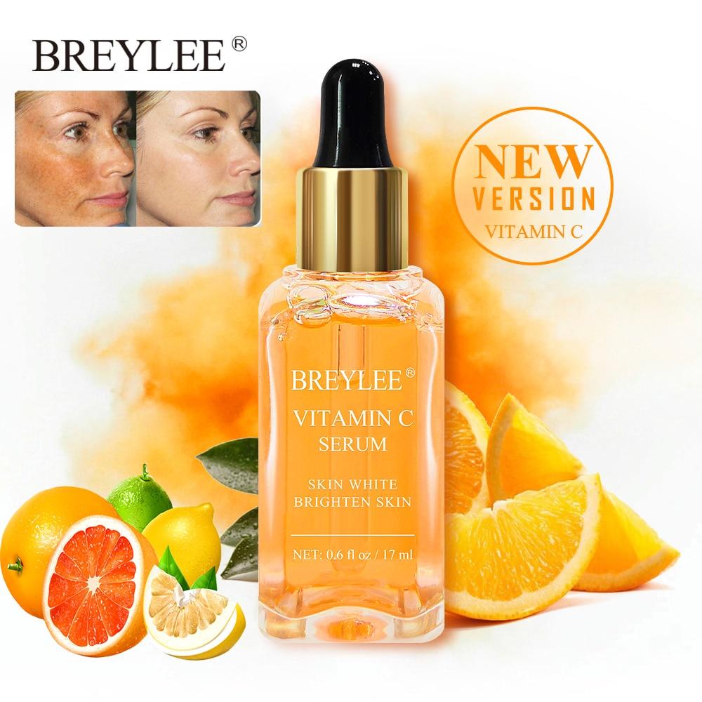 BREYLEE ויטמין C חומצה היאלורונית סרום להסיר מלנין להאיר פנים טיפול לדעוך נמש חסר גיל הלבנת סרום פנים טיפוח עור