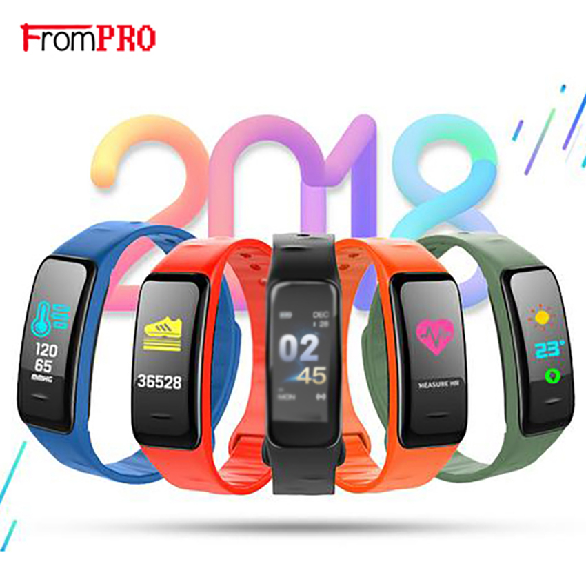 Smart Bracelet C1 Color Screen Waterproof wristband Blood Pressure Measurement Heart Rate Monitor Fitness Tracker Band PLUS
