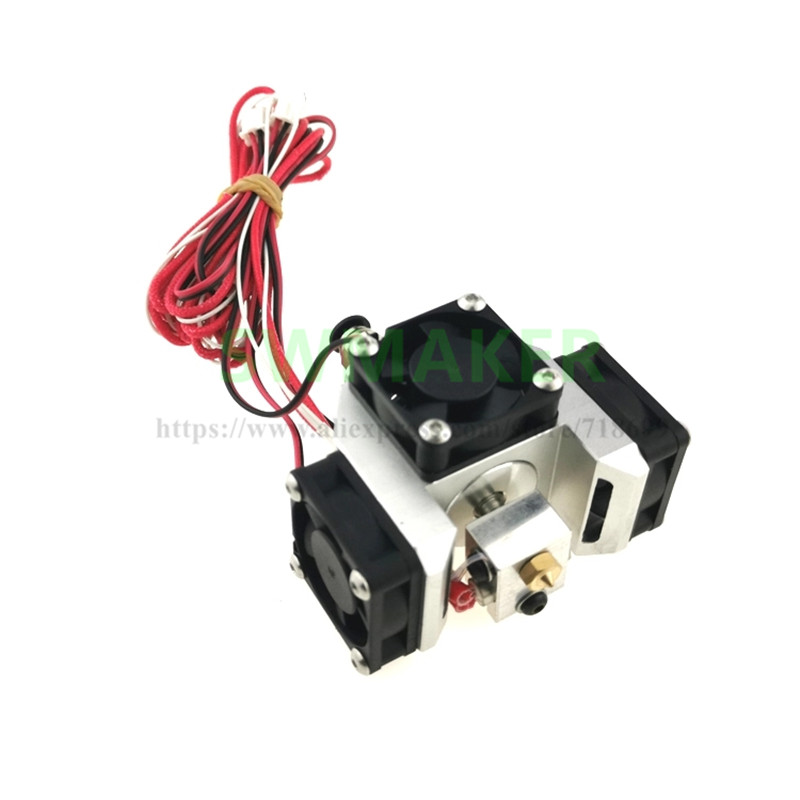 New Style All Metal E3D V6 Hot End Extruder Super Thermal Dissipation Effect With 3pcs 3010 Fans For 3D Printer Parts