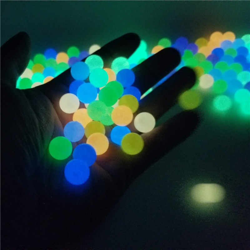 200Pcs Luminous Acryl Perlen 6-12mm Angeln Lose Spacer Perlen Für Schmuck Machen Glow In The Dark halskette Armband Perlen