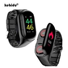 """Sport Horloge 0.96 """"M1 Ai Smart Horloge Met Bluetooth Oortelefoon Hartslagmeter Smart Polsband Lange Tijd Standby Draadloze oordopjes"""