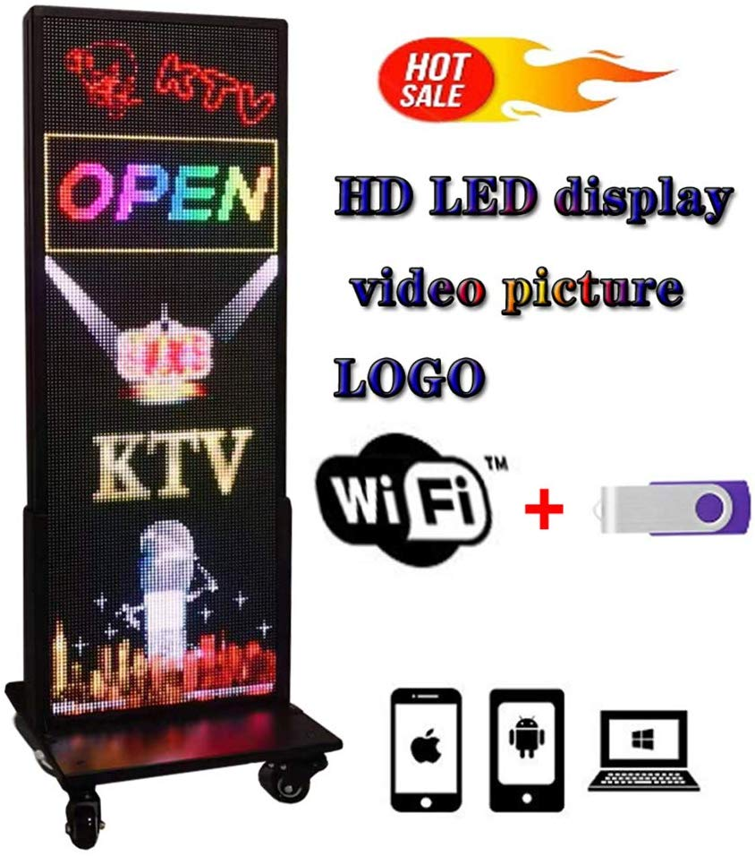 Vertical LED Sign, Programmable LED Signs Full Color P5 14