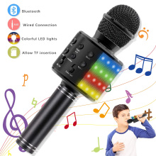 Bluetooth Microphones Home KTV  Wireless Karaoke Microphone, 4 in 1 Handheld,Speaker Machine, Kids