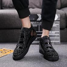2018 Hight-top Trendy Shoes Men's Summer England Short Boots Casual Versatile Fa