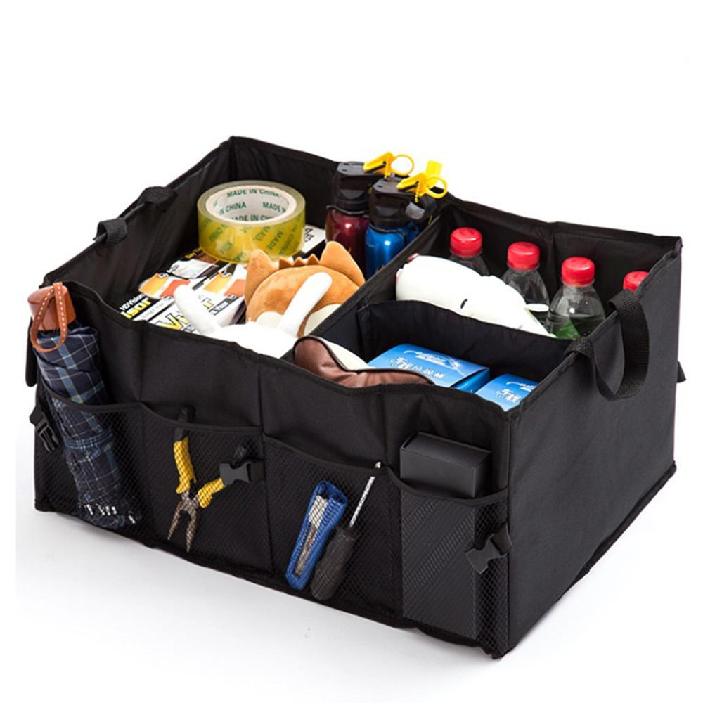 Portable Universal Car Trunk Organizer Universal Collapsible Storage Box Multi compartments Car Black Stowing Tidying Box|Stowing Tidying| |  - title=