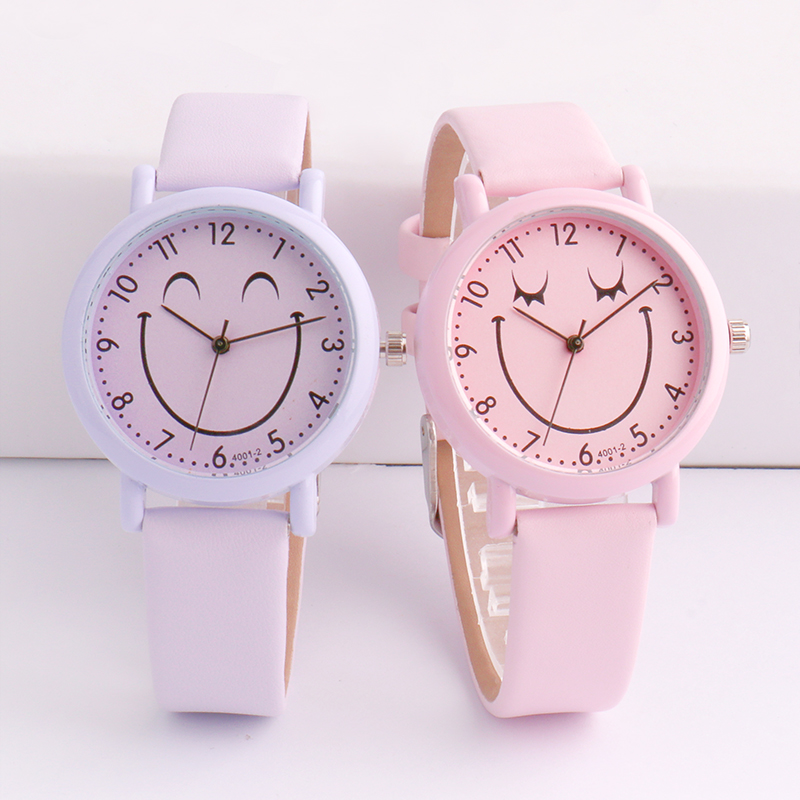 Korean Version Of The Trend Simple Cute Children's Quartz Wristwatch Girl Boy Quartz Waterproof Watch Kids Watches Alloy 3Bar