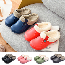 Unisex Home Winter Clogs Indoor Fur Warm Slippers Sandals For Women New Fashion Footwear  Flops Mule Slides