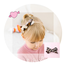 Velvet Leopard Nylon Headbands Bowknot Elastic Hairband/Hair Clips For Girls Customized Headwear Hair Accessories For Baby Girls