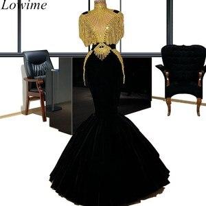 Image 3 - คำหรูหรายาวชุดชื่อเสียง 2019 Mermaid Gorgeous ไข่มุก Couture Kaftan สีแดงพรมชุดราตรี Gowns Party พิธี