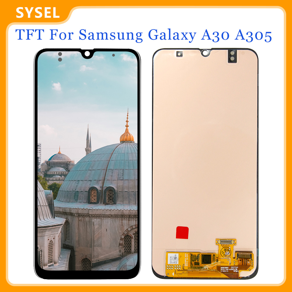 TFT For <font><b>Samsung</b></font> Galaxy <font><b>A30</b></font> <font><b>Lcd</b></font> A305 A305/DS A305F A305FD A305A Display Screen Digitizer Touch Panel Glass Assembly Replacement image